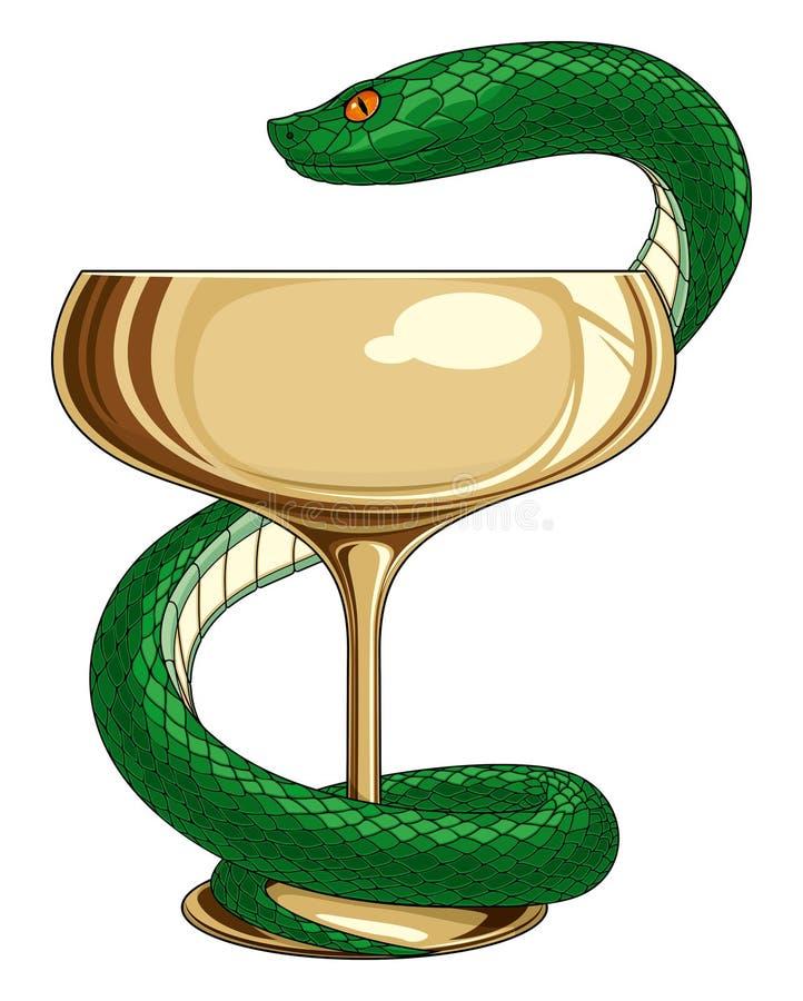 医学和药房蛇 库存例证
