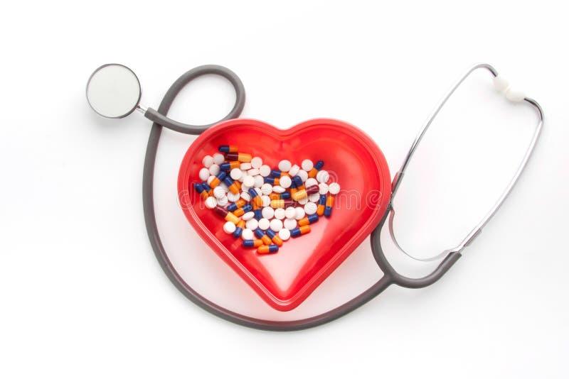 医学和药片的治疗 库存图片