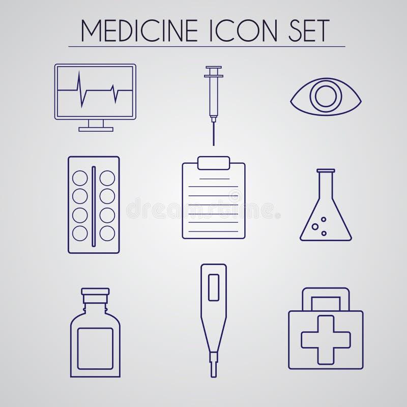 医学在做的象集合线型传染媒介 皇族释放例证