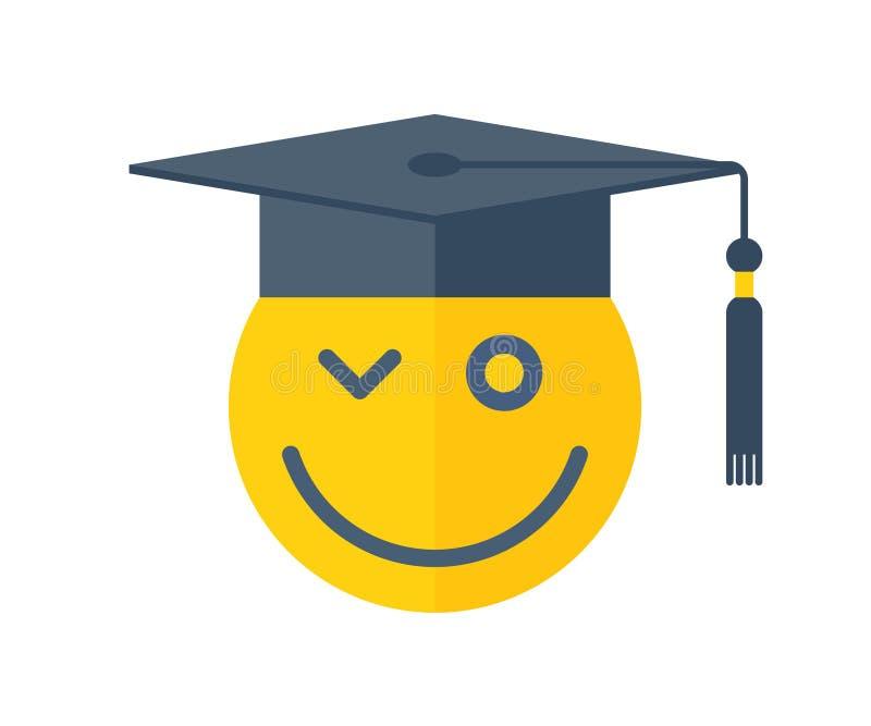 学校、教育和毕业概念导航平的illustratio 向量例证