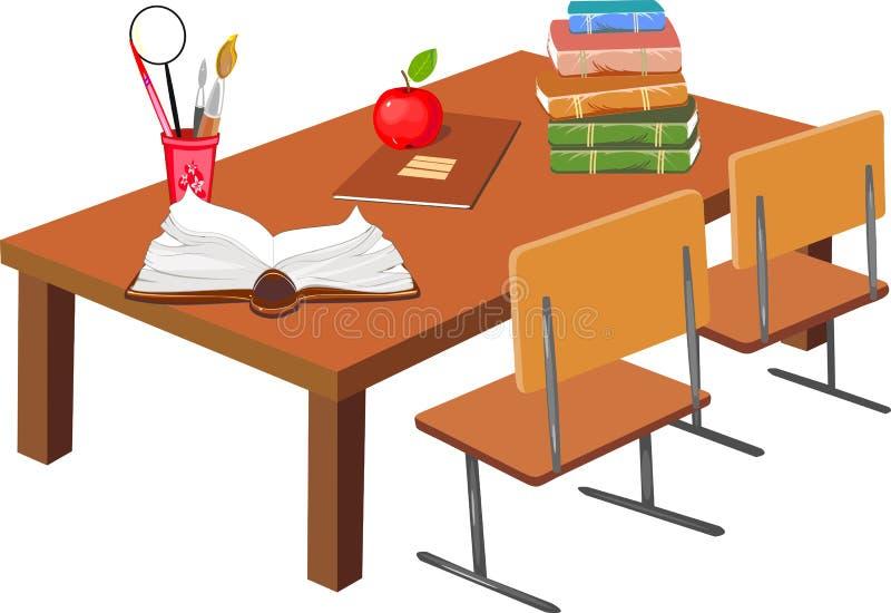 学校书桌 库存例证