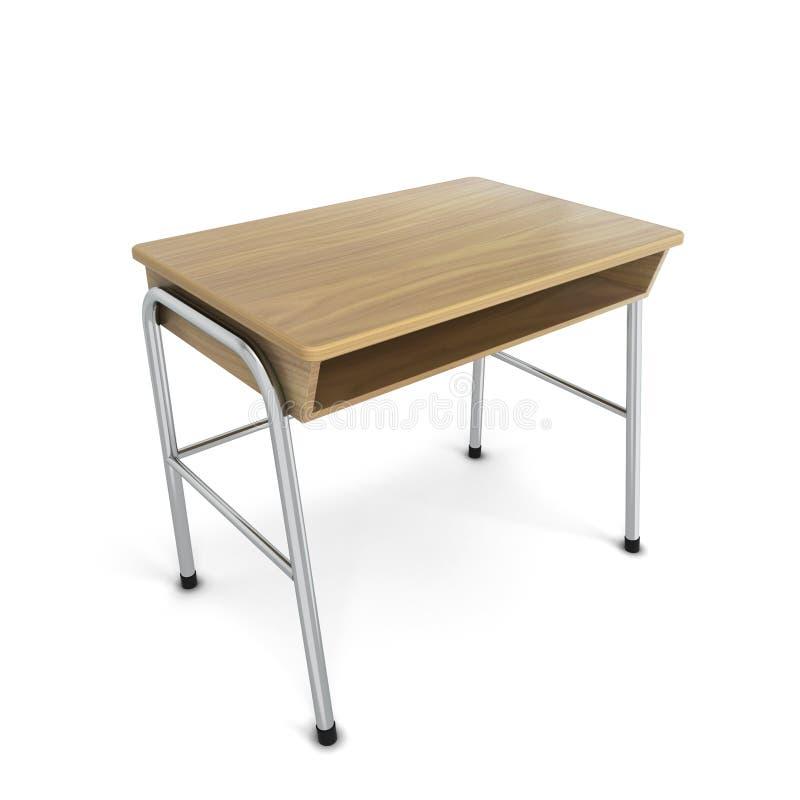 学校书桌 向量例证