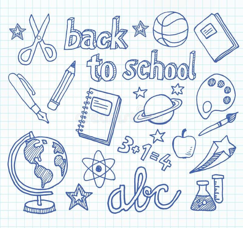学校乱画-回到学校 库存例证