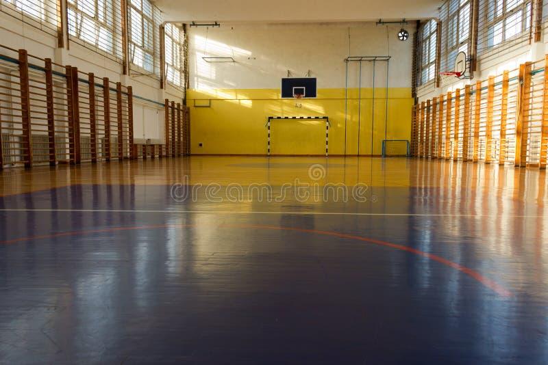 学校体育训练大厅 图库摄影