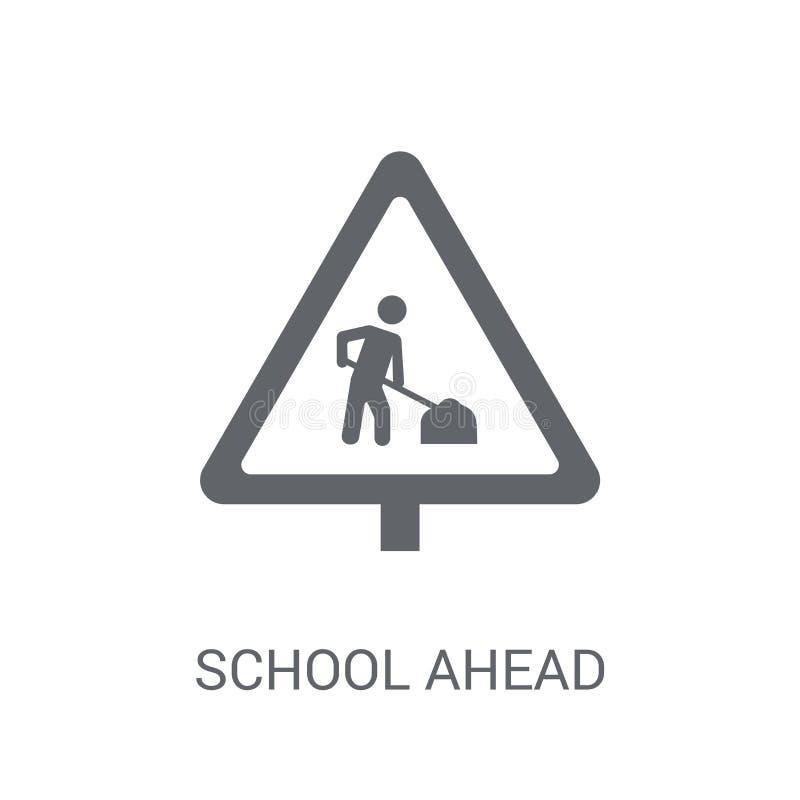 学校前面标志象  皇族释放例证