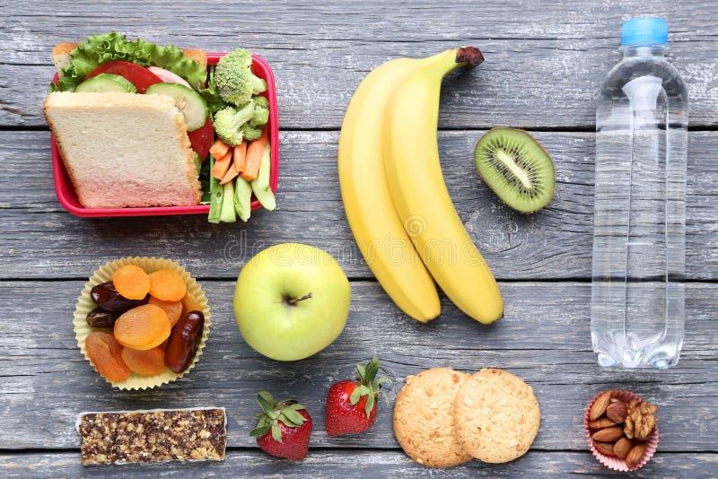 学校午餐箱子 图库摄影