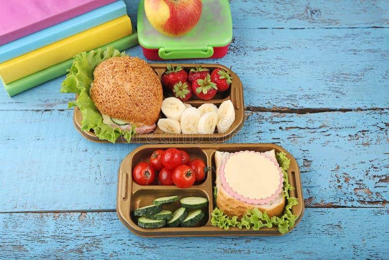 学校午餐 库存图片