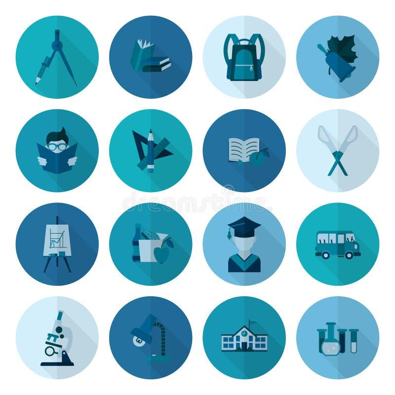 Download 学校和教育图标 向量例证. 插画 包括有 统治者, 闪亮指示, 设计, 教育, 单色, 铅笔, 挑运, 平面 - 59107889