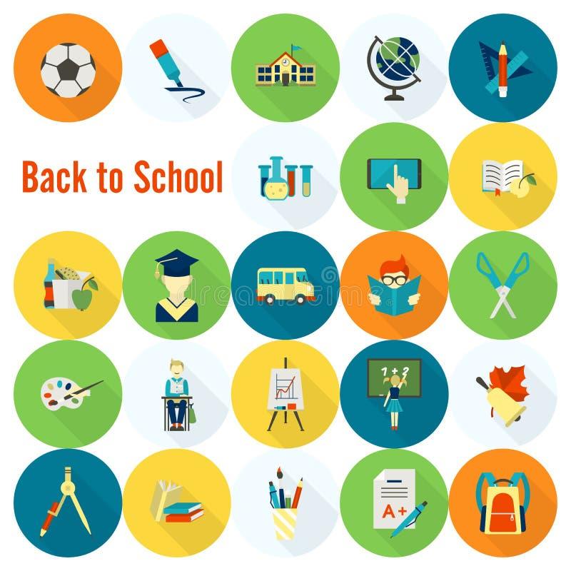 Download 学校和教育图标 向量例证. 插画 包括有 剪刀, 设计, 学院, 公共汽车, 挑运, 午餐, brusher - 59107984