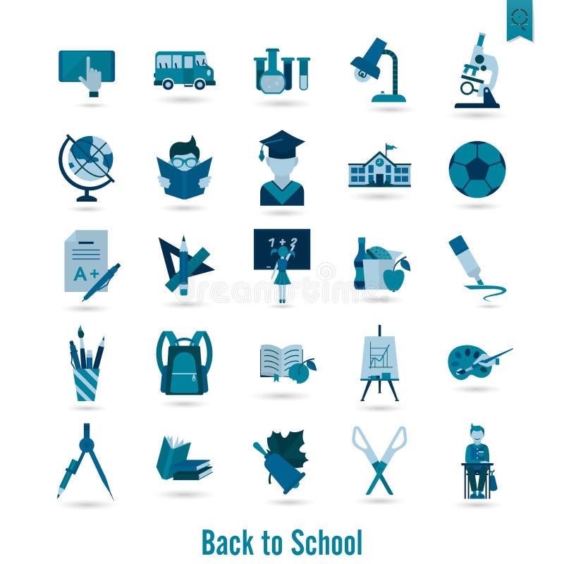 Download 学校和教育图标 向量例证. 插画 包括有 设计, 蓝色, 检查, brusher, 闪亮指示, 几何, 白垩 - 59108398