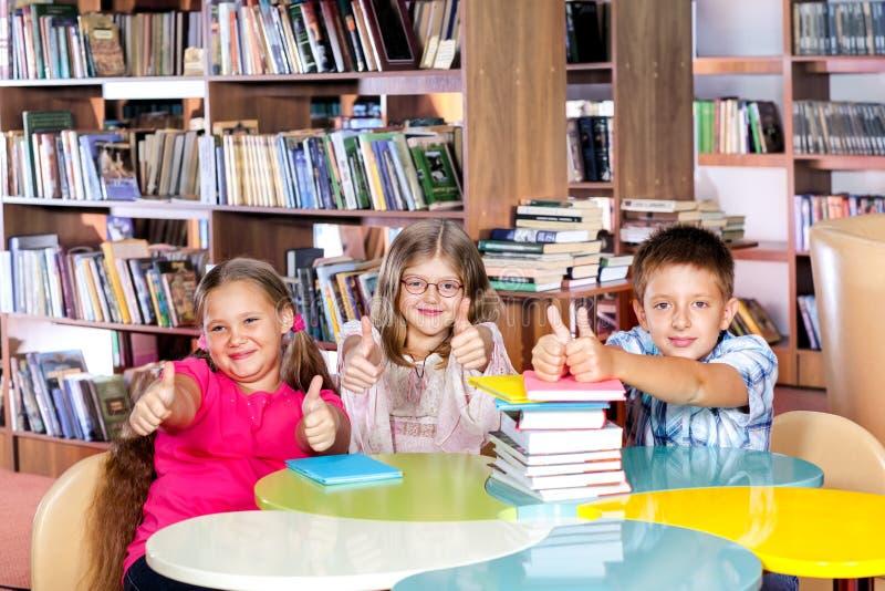 学校图书馆 免版税图库摄影
