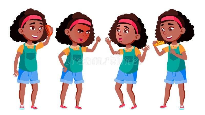 学校女孩集合传染媒介 投反对票 美国黑人 正面孩子 对明信片,盖子,招贴设计 被隔绝的动画片 皇族释放例证