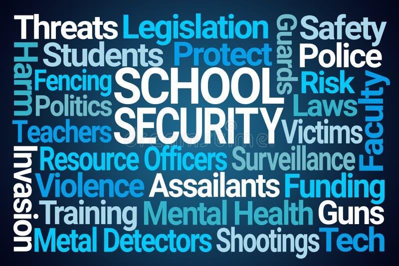 学校安全词云彩 向量例证