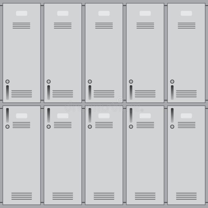 学校或更衣室衣物柜 向量例证