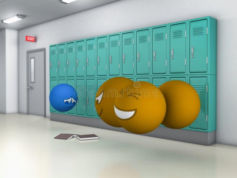 学校持强欺弱者 向量例证