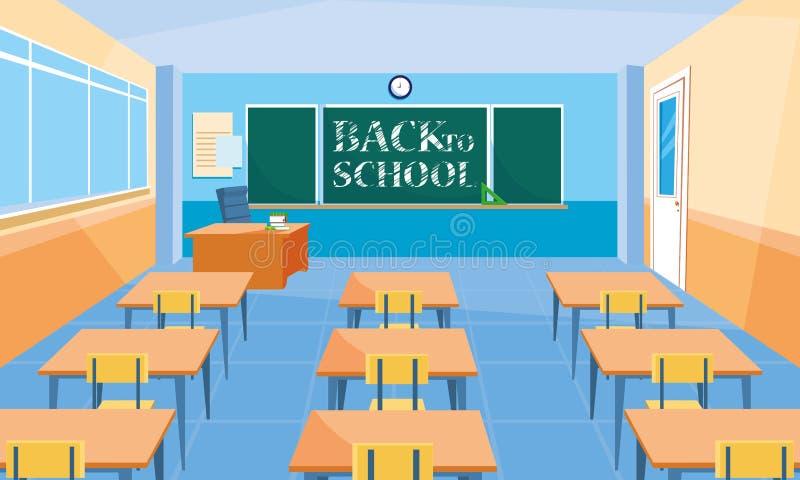 学校教室场面象 向量例证