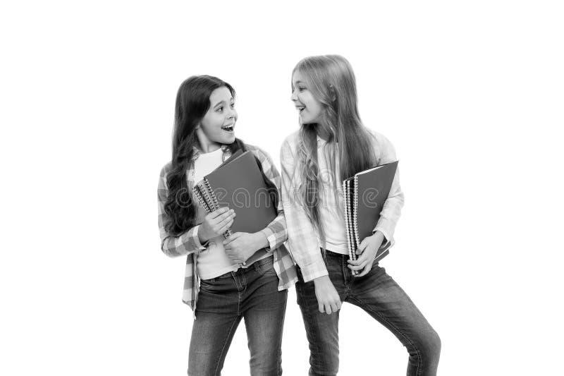 学校文具 运载大课本的学生对学校课程 上补课 有学校课本的女孩 免版税库存图片