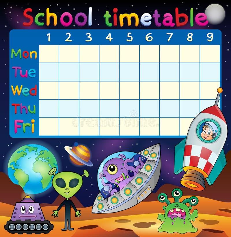 学校时间表空间幻想题材 库存例证