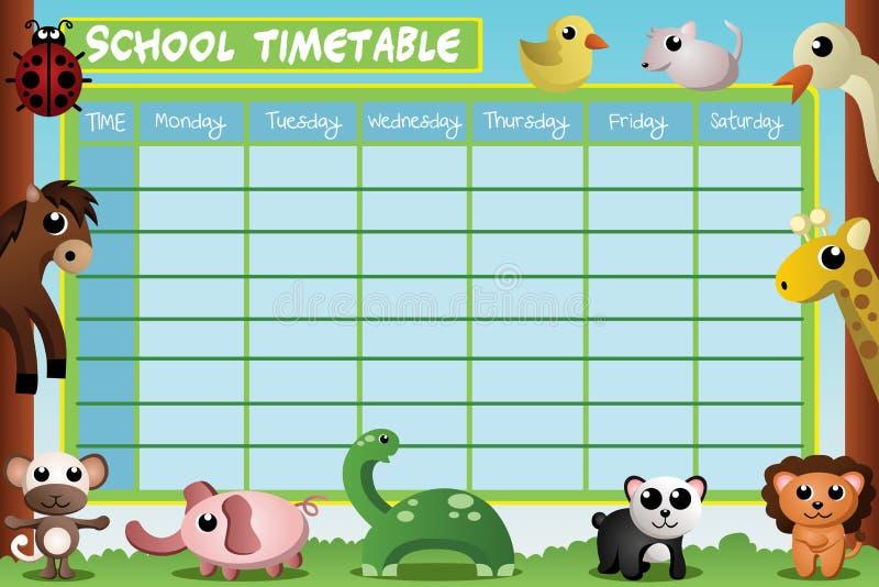 学校时间表设计 皇族释放例证