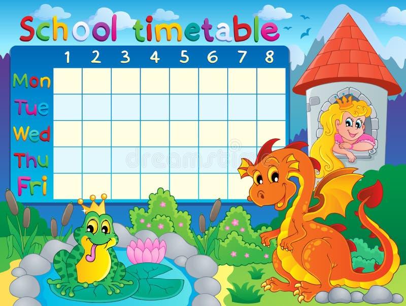 学校时间表主题图象4 库存例证