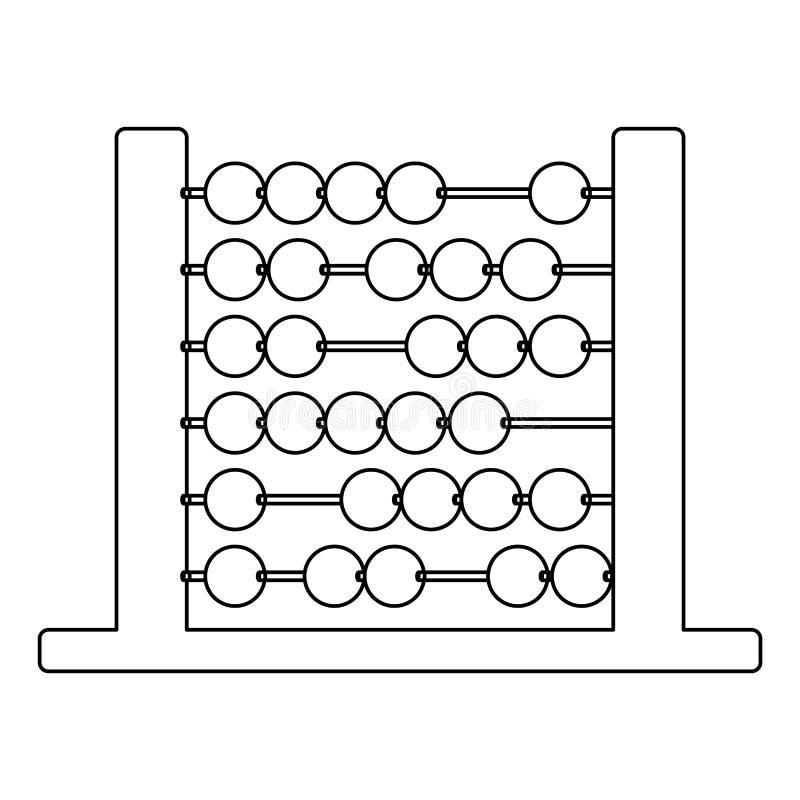 学校构思设计被隔绝的算盘  向量例证