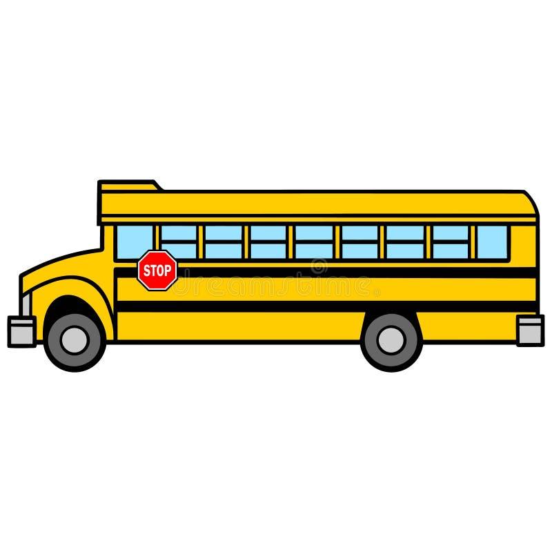 学校班车公共汽车司机边 皇族释放例证