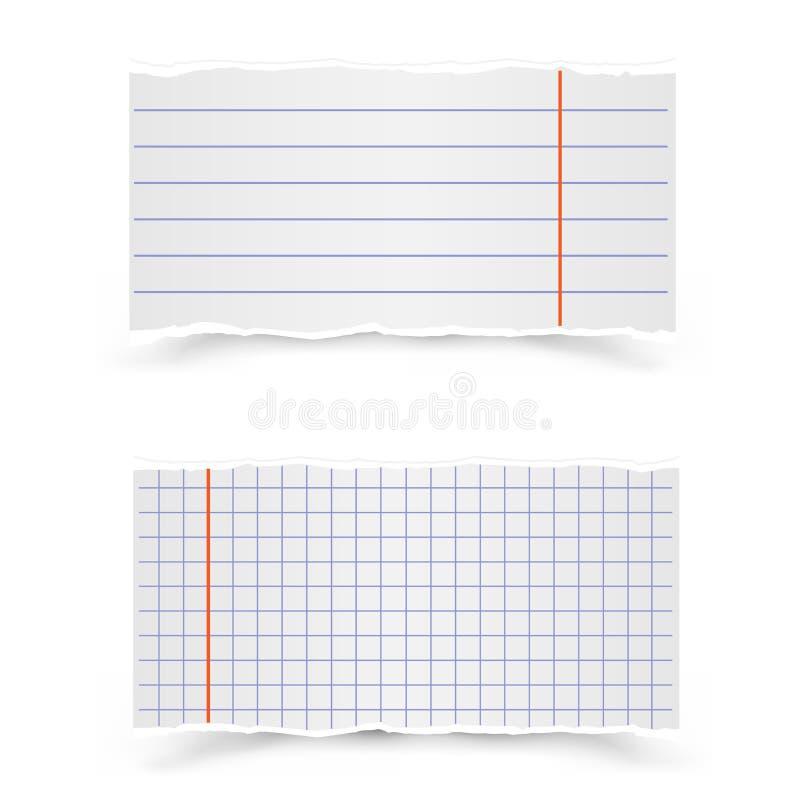 学校笔记本板料  皇族释放例证