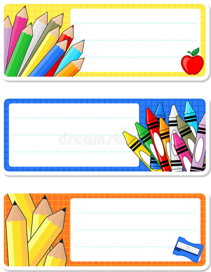 学校笔记本标签 向量例证