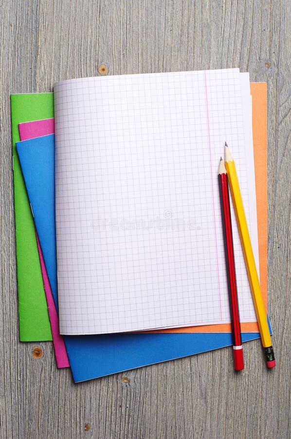 学校笔记本 免版税库存照片