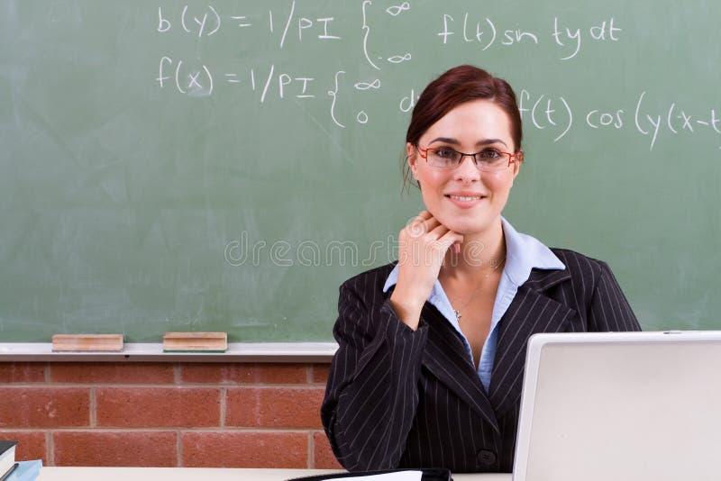 学校聪明的教师 库存照片