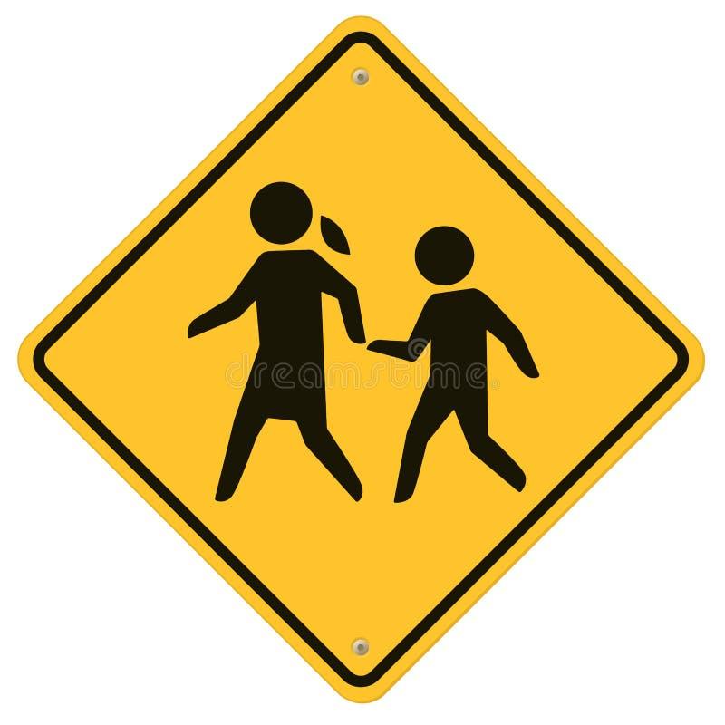 学校警报信号 库存例证
