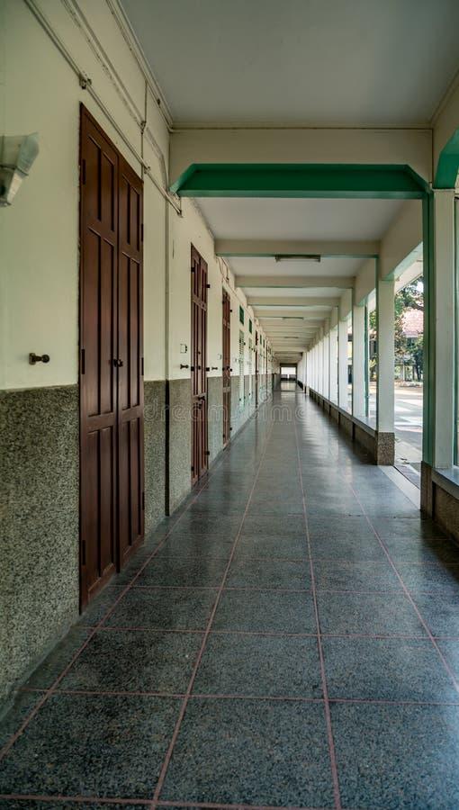 学校阳台 免版税库存图片