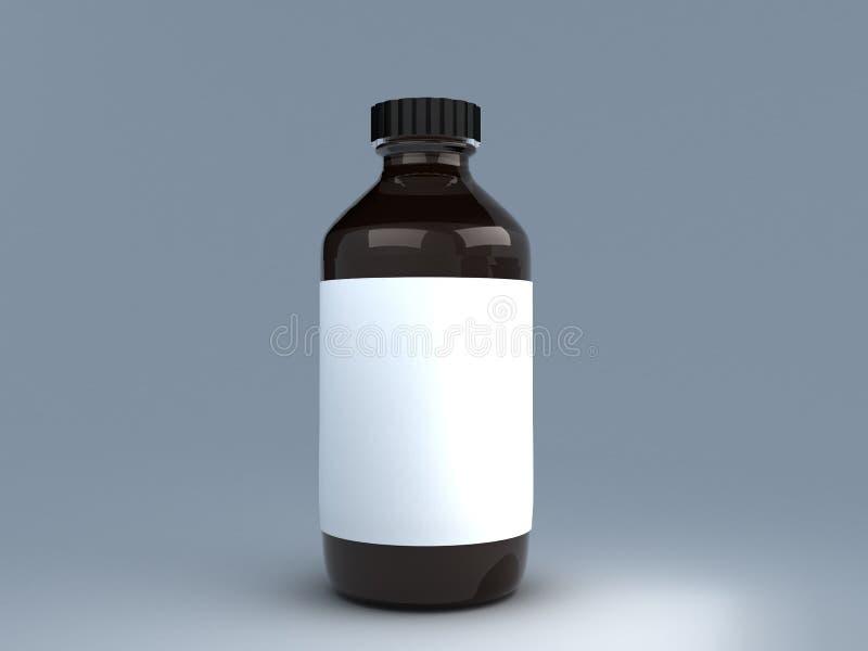 医学瓶 皇族释放例证