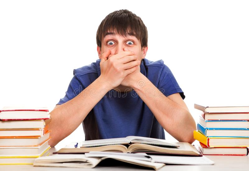 学生关闭他的嘴 免版税库存照片