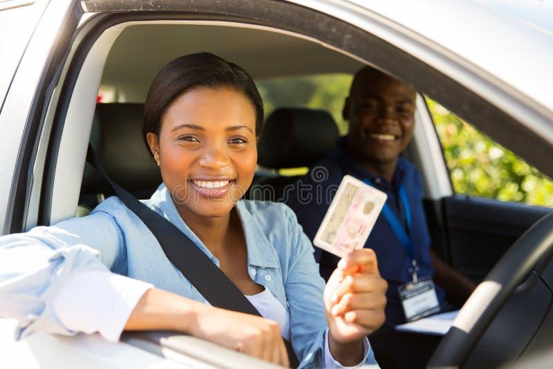 学生司机通行证 免版税图库摄影