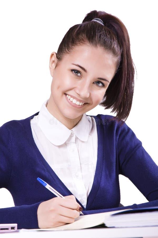 年轻学生女孩 免版税库存图片