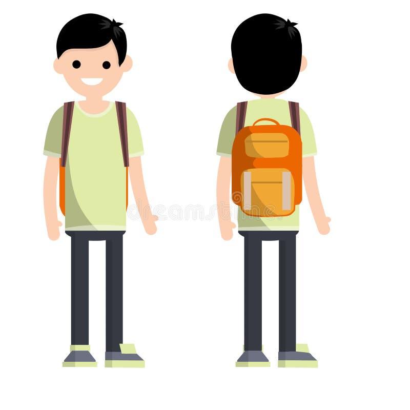 学生年轻人的类型有双方的 向量例证