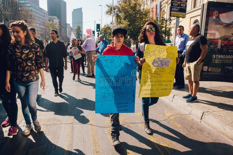 学生抗议教育赢利 库存照片