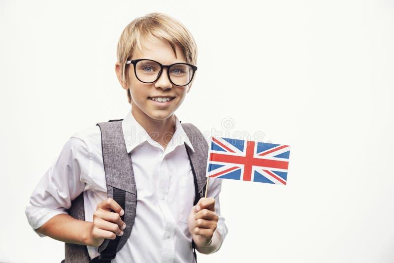 学生藏品英国旗子 免版税库存图片