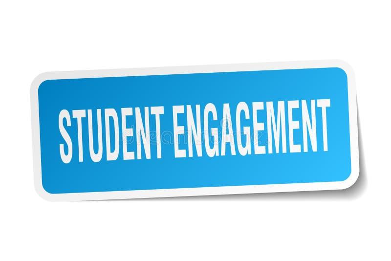 学生订婚正方形贴纸 库存例证