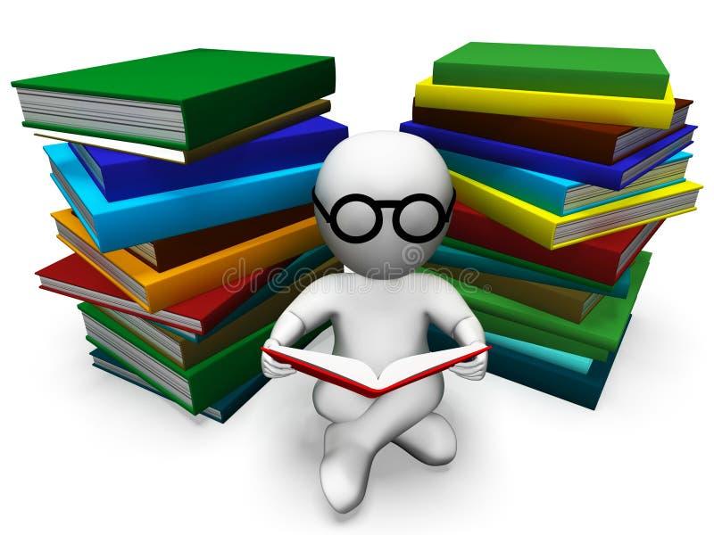 学生阅读书展示学会 库存例证