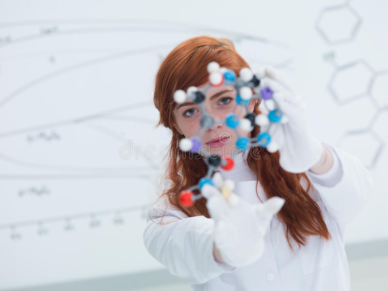 学生dmt分子分析 免版税库存照片