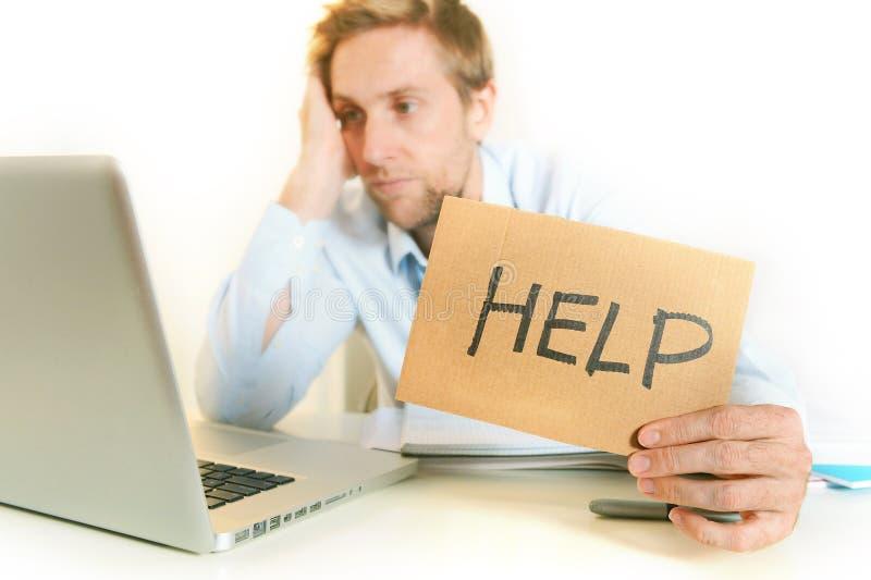 年轻学生Overwhelmed请求帮忙 免版税图库摄影