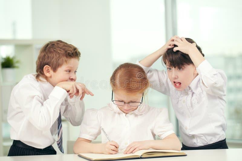 学童类型 免版税库存图片