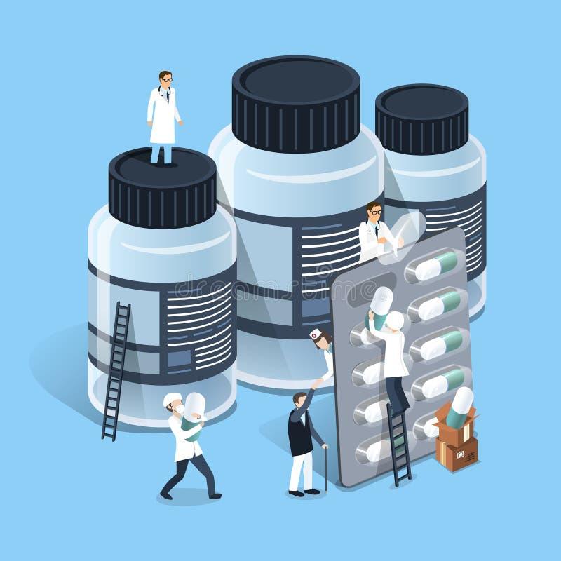 医学管理概念 向量例证