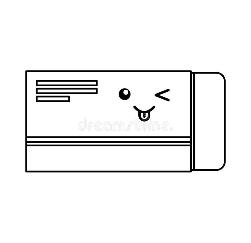 医学箱子字符象 库存例证