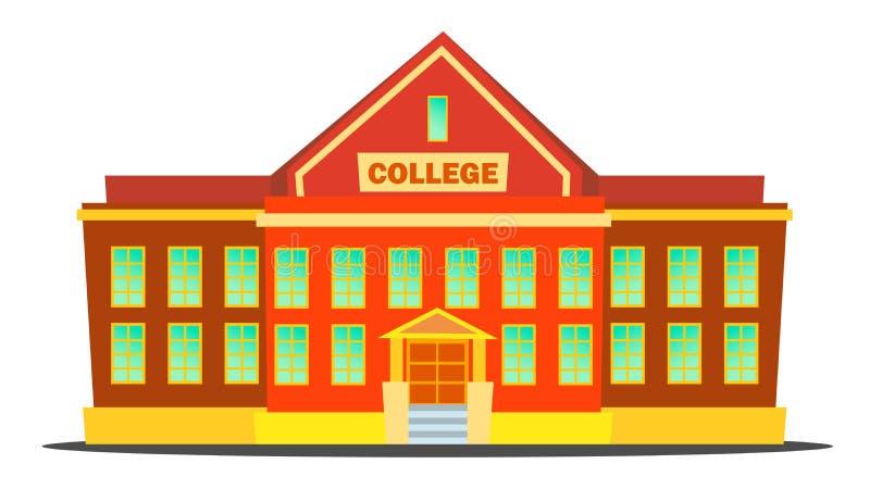 学院大厦传染媒介 现代大学学院 被隔绝的平的动画片例证 皇族释放例证