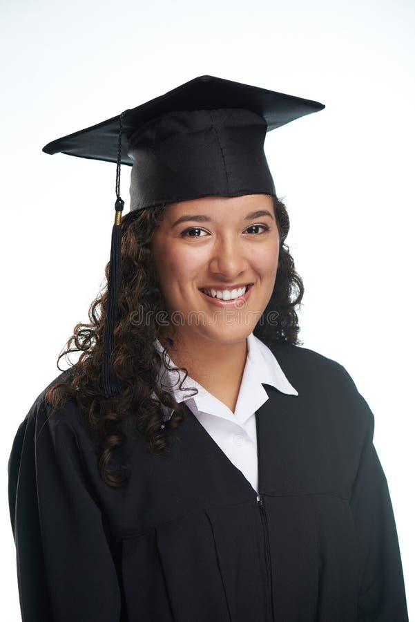 学院毕业的西班牙女孩 库存照片