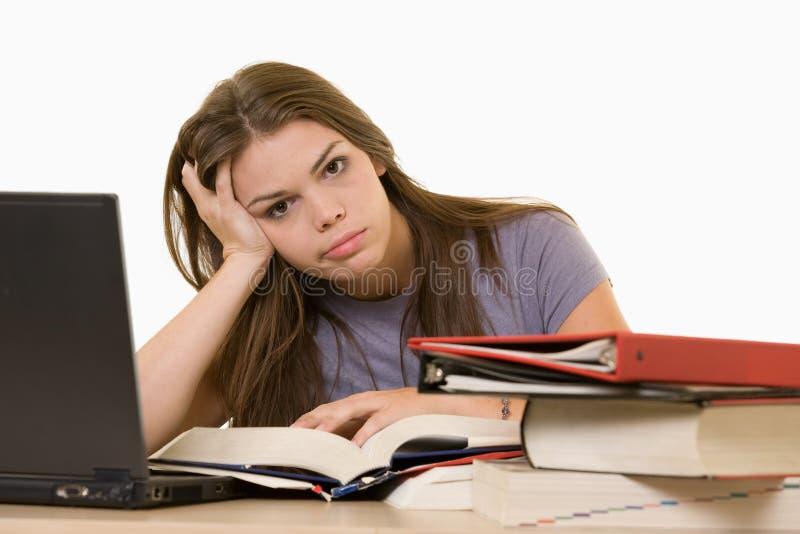 学院沮丧的学员 免版税库存图片