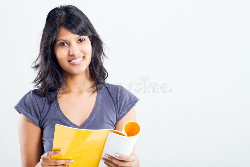 学院读取学员 免版税库存照片